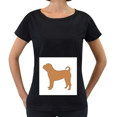 Chinese Shar Pei Silo Color Women s Loose-Fit T-Shirt (Black)
