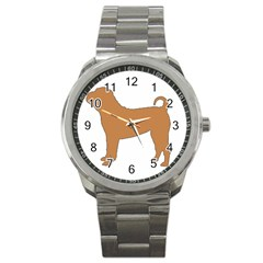 Chinese Shar Pei Silo Color Sport Metal Watch