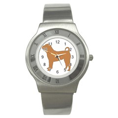 Chinese Shar Pei Silo Color Stainless Steel Watch