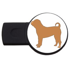 Chinese Shar Pei Silo Color USB Flash Drive Round (4 GB)