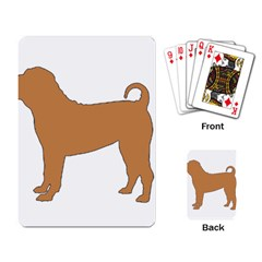 Chinese Shar Pei Silo Color Playing Card