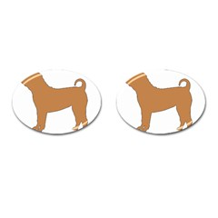 Chinese Shar Pei Silo Color Cufflinks (Oval)
