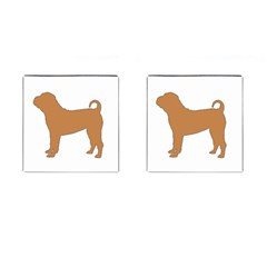 Chinese Shar Pei Silo Color Cufflinks (Square)