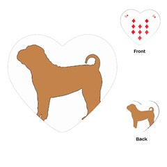 Chinese Shar Pei Silo Color Playing Cards (Heart)