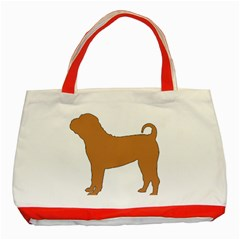 Chinese Shar Pei Silo Color Classic Tote Bag (Red)