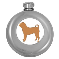 Chinese Shar Pei Silo Color Round Hip Flask (5 oz)