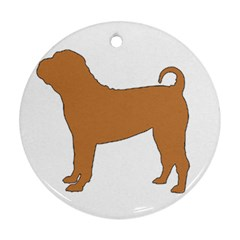 Chinese Shar Pei Silo Color Round Ornament (Two Sides)