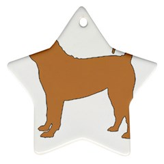 Chinese Shar Pei Silo Color Star Ornament (Two Sides)