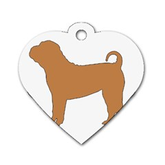 Chinese Shar Pei Silo Color Dog Tag Heart (One Side)