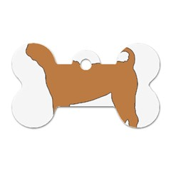 Chinese Shar Pei Silo Color Dog Tag Bone (Two Sides)
