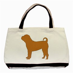 Chinese Shar Pei Silo Color Basic Tote Bag (Two Sides)