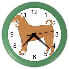 Chinese Shar Pei Silo Color Color Wall Clocks