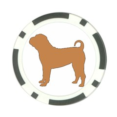 Chinese Shar Pei Silo Color Poker Chip Card Guard