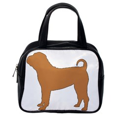 Chinese Shar Pei Silo Color Classic Handbags (One Side)