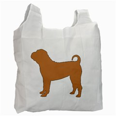 Chinese Shar Pei Silo Color Recycle Bag (One Side)