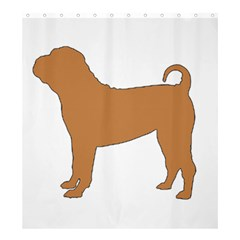 Chinese Shar Pei Silo Color Shower Curtain 66  x 72  (Large)