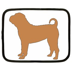 Chinese Shar Pei Silo Color Netbook Case (XL)