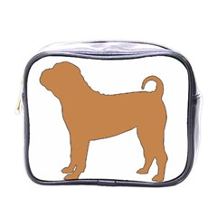 Chinese Shar Pei Silo Color Mini Toiletries Bags