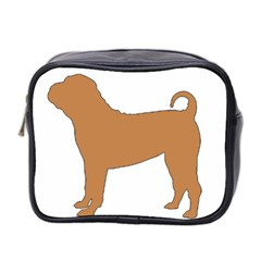 Chinese Shar Pei Silo Color Mini Toiletries Bag 2-Side