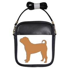 Chinese Shar Pei Silo Color Girls Sling Bags