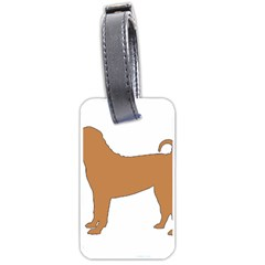 Chinese Shar Pei Silo Color Luggage Tags (One Side)