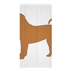Chinese Shar Pei Silo Color Shower Curtain 36  x 72  (Stall)