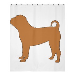Chinese Shar Pei Silo Color Shower Curtain 60  x 72  (Medium)