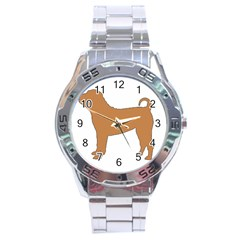 Chinese Shar Pei Silo Color Stainless Steel Analogue Watch