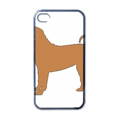 Chinese Shar Pei Silo Color Apple iPhone 4 Case (Black)