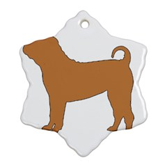 Chinese Shar Pei Silo Color Ornament (Snowflake)