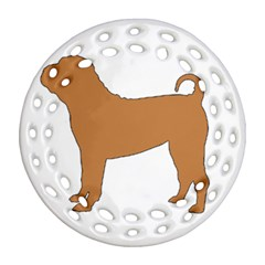 Chinese Shar Pei Silo Color Round Filigree Ornament (Two Sides)