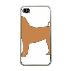 Chinese Shar Pei Silo Color Apple iPhone 4 Case (Clear)