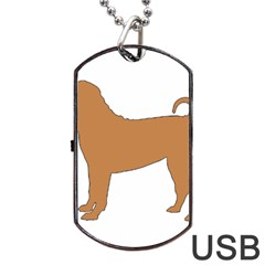 Chinese Shar Pei Silo Color Dog Tag USB Flash (One Side)