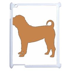 Chinese Shar Pei Silo Color Apple iPad 2 Case (White)