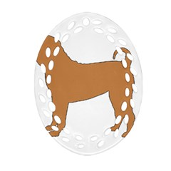 Chinese Shar Pei Silo Color Oval Filigree Ornament (Two Sides)
