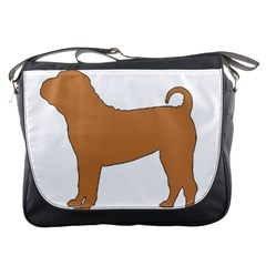 Chinese Shar Pei Silo Color Messenger Bags
