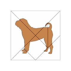 Chinese Shar Pei Silo Color Acrylic Tangram Puzzle (4  x 4 )