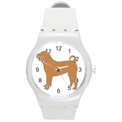 Chinese Shar Pei Silo Color Round Plastic Sport Watch (M)