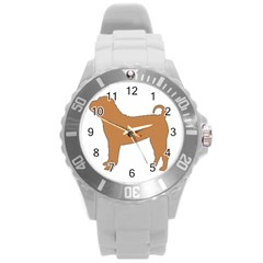 Chinese Shar Pei Silo Color Round Plastic Sport Watch (L)