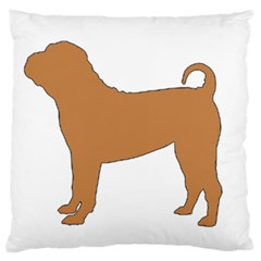 Chinese Shar Pei Silo Color Large Cushion Case (One Side)