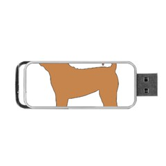 Chinese Shar Pei Silo Color Portable USB Flash (One Side)