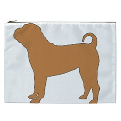 Chinese Shar Pei Silo Color Cosmetic Bag (XXL)