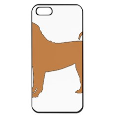Chinese Shar Pei Silo Color Apple iPhone 5 Seamless Case (Black)