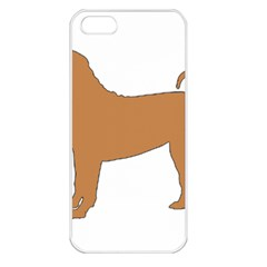 Chinese Shar Pei Silo Color Apple iPhone 5 Seamless Case (White)