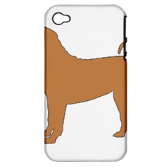 Chinese Shar Pei Silo Color Apple iPhone 4/4S Hardshell Case (PC+Silicone)