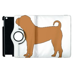Chinese Shar Pei Silo Color Apple iPad 3/4 Flip 360 Case