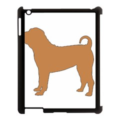 Chinese Shar Pei Silo Color Apple iPad 3/4 Case (Black)