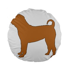Chinese Shar Pei Silo Color Standard 15  Premium Round Cushions