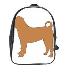 Chinese Shar Pei Silo Color School Bags (XL)