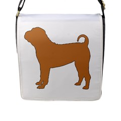 Chinese Shar Pei Silo Color Flap Messenger Bag (L)